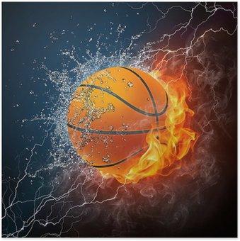 Plakát Basketbalový míč