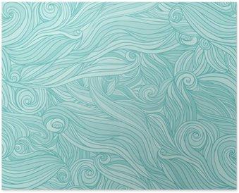Plakát Bezešvé abstraktní vzor, zamotat vlnité vlasy pozadí