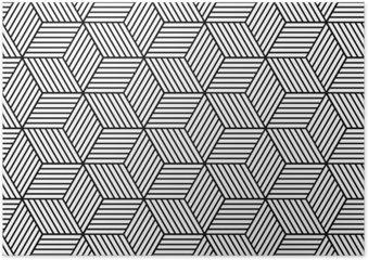 Plakát Bezešvé geometrický vzor s kostkami.
