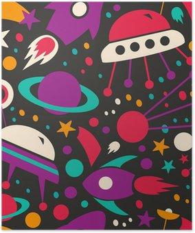 Plakát Bezešvé kontrast kosmický vzor