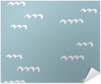 Plakát Bezešvé modely ručně kreslených. Vzor pro použití na balicí papír, blahopřání a dárkového zboží
