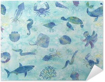 Plakát Bezešvé mořské pozadí