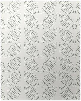Plakát Bezešvé vzor. Ručně tažené. Květ. design pozadí