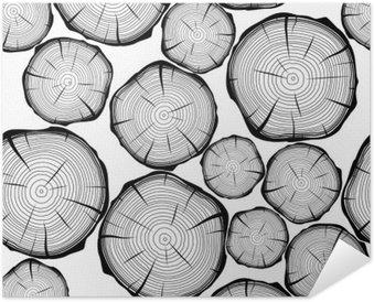 Plakát Bezproblémové vzorek s letokruhy. vektor pozadí