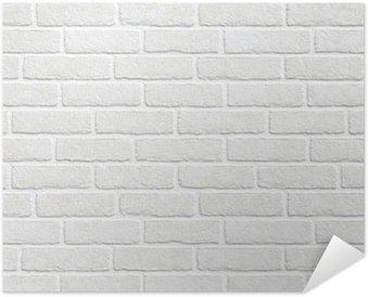 Plakát Bílá cihlová zeď na pozadí