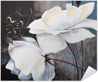 Plakát Bílé květy