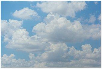 Plakát Bílé mraky na modré obloze