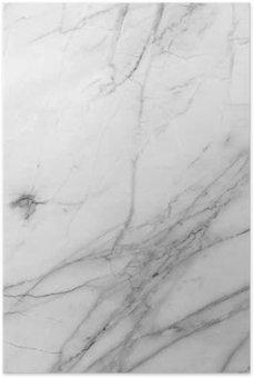 Plakát Bílém pozadí mramorové zdi textury