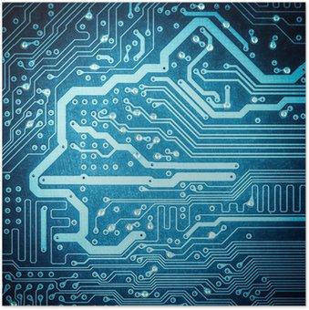 Plakát Blue deska detailní textury