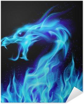 Plakát Blue Fire Dragon