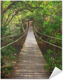 Plakát Bridge do džungle, Národní park Khao Yai, Thajsko
