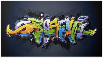 Plakát Bright graffiti nápisy