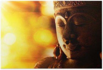 Plakát Bronzová socha Buddhy