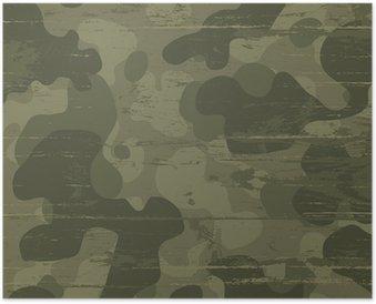 Plakát Camouflage vojenské pozadí. Vektorové ilustrace, EPS10