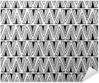 Plakát Černá a bílá bezproblémové vzorek s trojúhelníky.