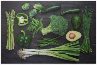 Plakát Čerstvé zelené organické zelenina