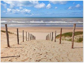Plakát Cesta k písečné pláži u Severního moře