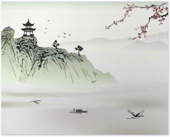 Plakát Čínská krajinomalba