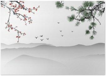 Plakát Čínská malba