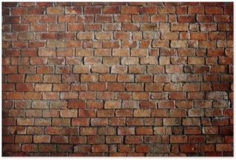 Plakát Classic Beautiful texturou Cihlová zeď
