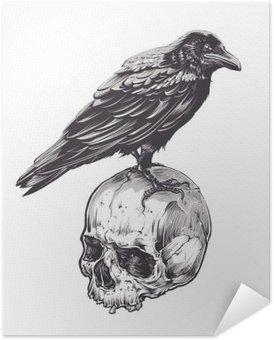 Plakát Crow na Skull