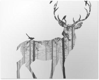 Plakát deer