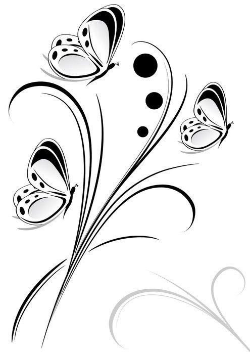 Plakát Dekorace motýli - Ostatní Ostatní