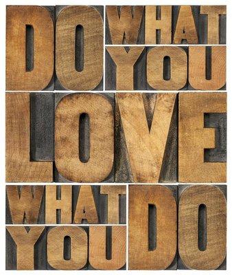 Plakát Dělat to, co máte rádi