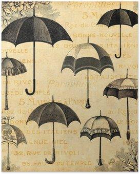 Plakát Deštníky