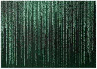 Plakát Digitální abstraktní pozadí