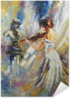 Plakát Dívka hrající na housle