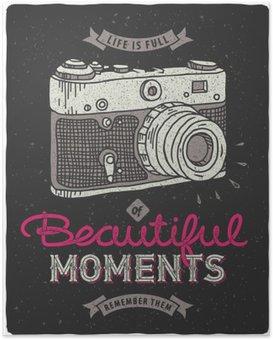 Plakát Dobová fotografie fotoaparát