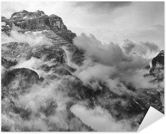 Plakat Dolomity w czerni i bieli