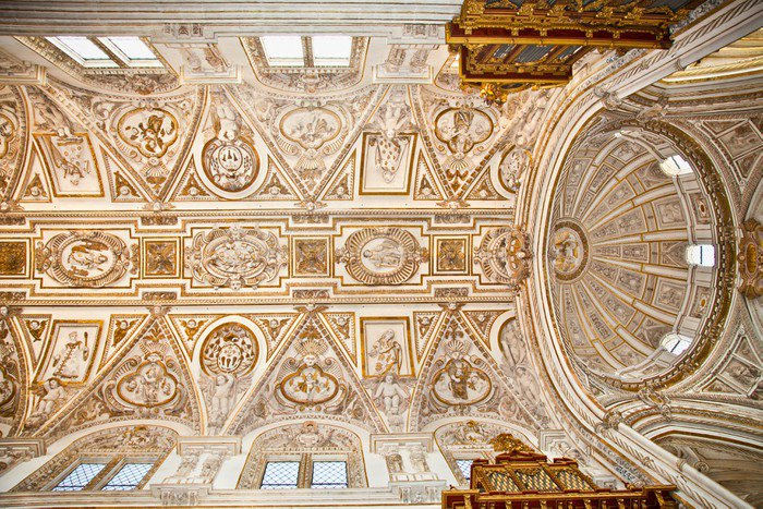 Plakát Dome Velké mešity a katedrály Mezquita v Córdoba, Španělsko. - Evropa