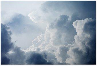 Plakát Dramatické nebe s bouřlivými mraky