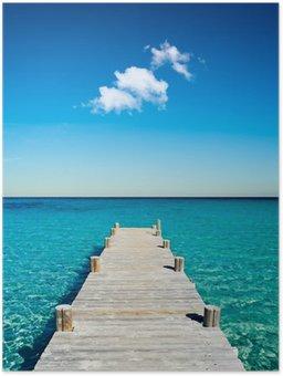 Plakát Dřevěné ponton beach dovolenou