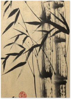 Plakát Dva bambus strom