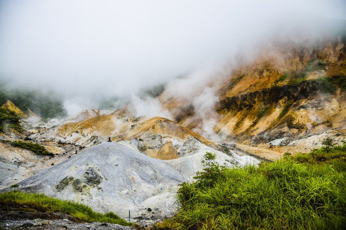 Plakát Džigokudani peklo hora v Noboribetsu Japonsko1 - Asie