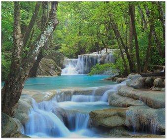 Plakát Erawan Waterfall, Kanchanaburi, Thajsko
