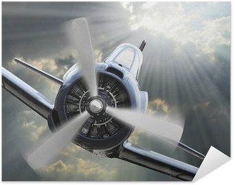 Plakát Fighter. Retro technologie téma.