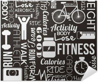 Plakát Fitness vektor