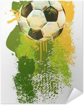 Plakát Fotbalový míč Banner .__ Všechny prvky jsou v samostatných vrstvách a seskupeny. __