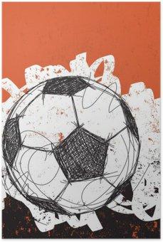 Plakát Fotbalový míč pozadí.