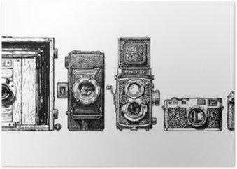 Plakát Fotoaparáty evoluce nastaven.