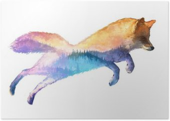 Plakát Fox double ilustrace expozice