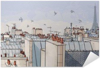 Plakát Francie - Paříž střechy