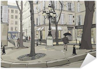 Plakát Furstemberg náměstí v Paříži
