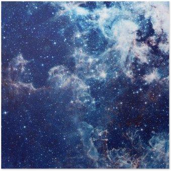 Plakát Galaxy ilustrační, vesmírných pozadí s hvězdami, mlhoviny, kosmos mraky