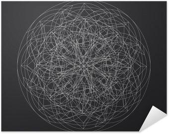 Plakát Geometrická element_star pattern_vector_line designu