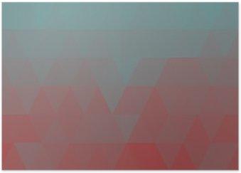 Plakát Geometrické modré low poly pozadí